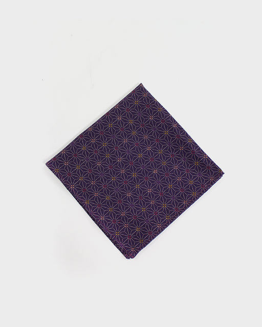 Pocket Square, Purple Dotted Asanoha