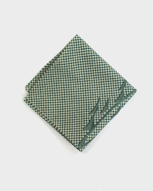 Pocket Square, Green Shibori