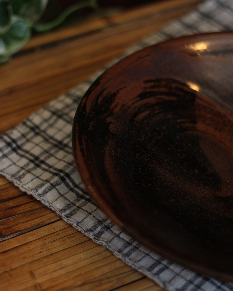 Brown Glazed Plate