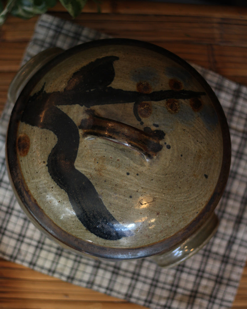 Vintage Ceramic Pot with Lid