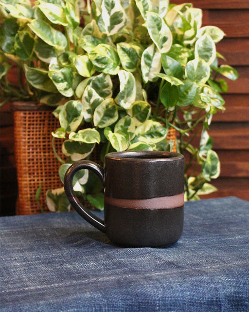 Dina Black Stripe Stoneware Large Mug