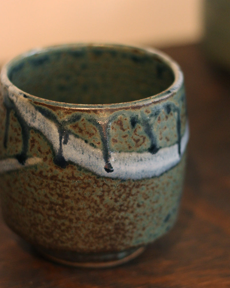 Tea Cup, Green and Blue