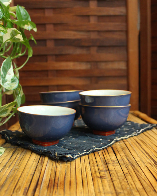 Blue Tea Cups, Set of 5