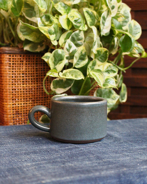 Dina Dark Blue Stoneware Small Mug