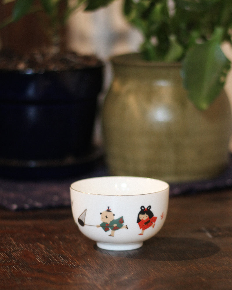 Tea Cup, Boy and Girl