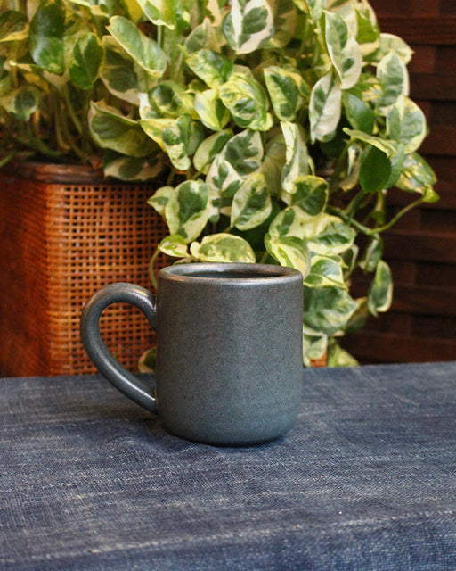 Dina Dark Blue Stoneware Large Mug