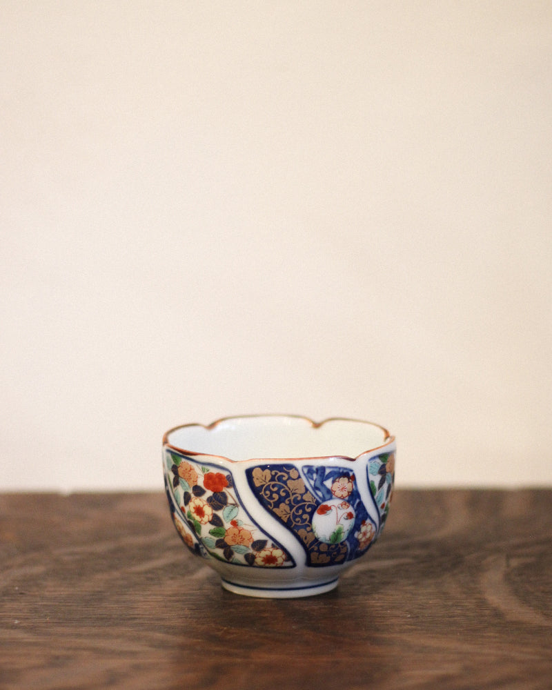 Small Bowl, Flowers with Navy Leaves