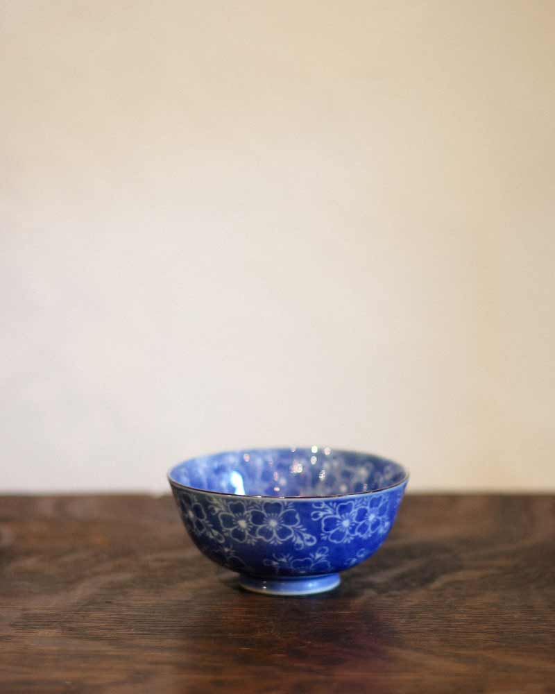 Tea Cups, Blue Sakura, Set of 5