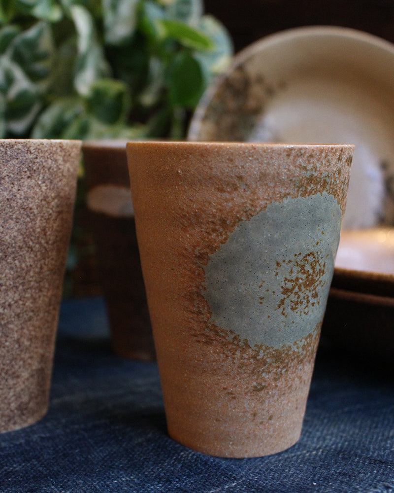 Cups and Plates Set, Stone and Glazed