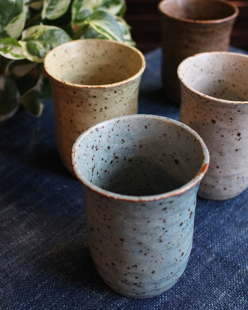 Varied Speckled Tea Cups