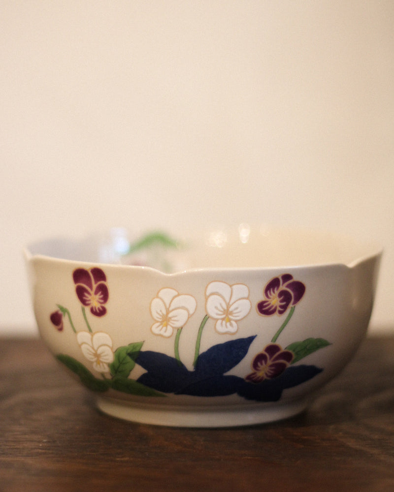 Arita-Yaki Bowl, Various Flowers, Set of 5