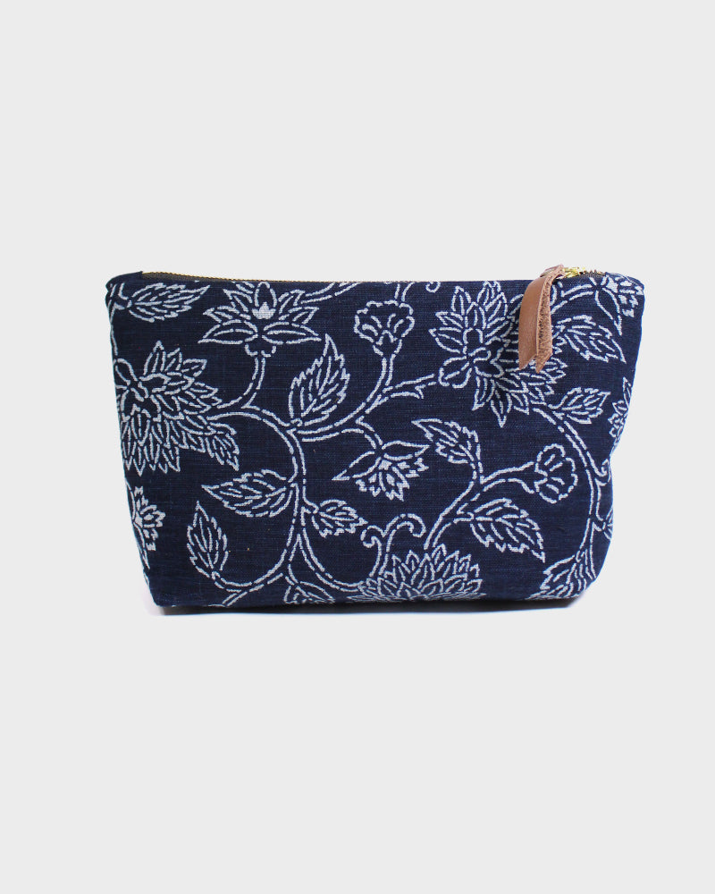 Stand-Up Pouch, Indigo Katazome
