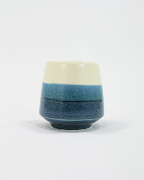 Kelly Pottery, Yunomi Dipped Blue