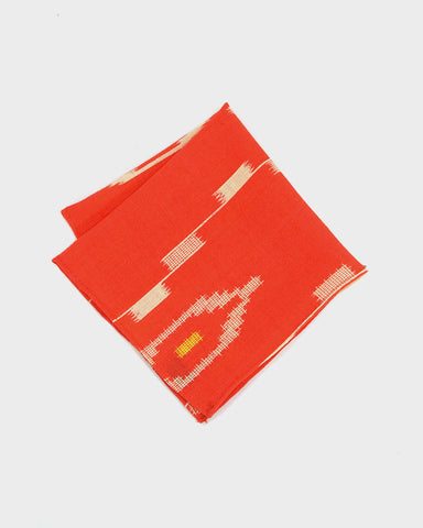 Pocket Square Kimono Orange Kasuri