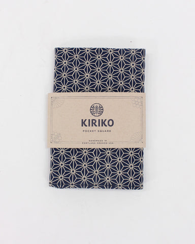 Pocket Square Indigo Small Asanoha