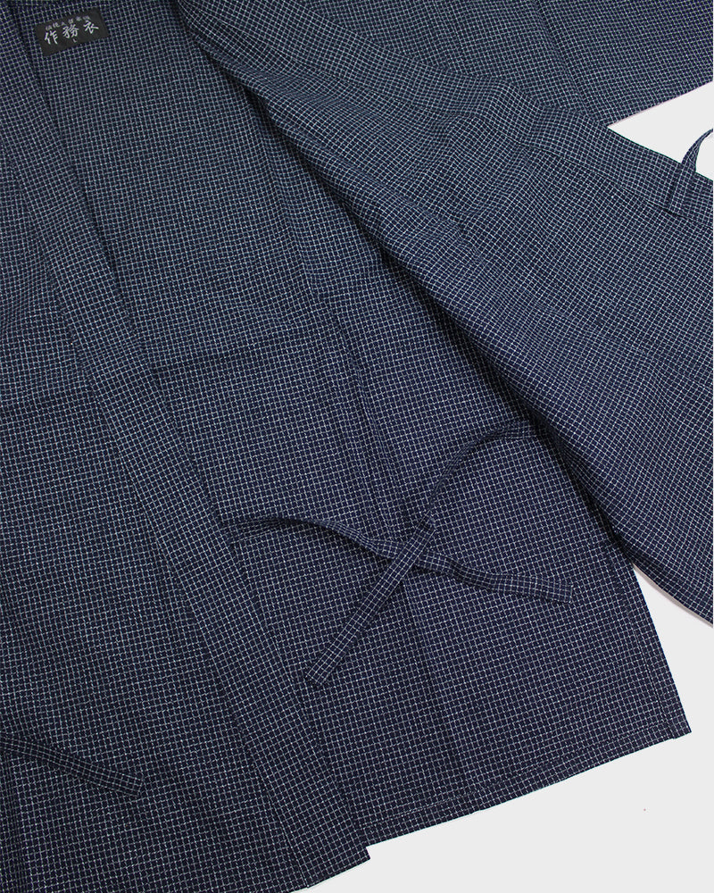 Samue Set, Thin Indigo Grid