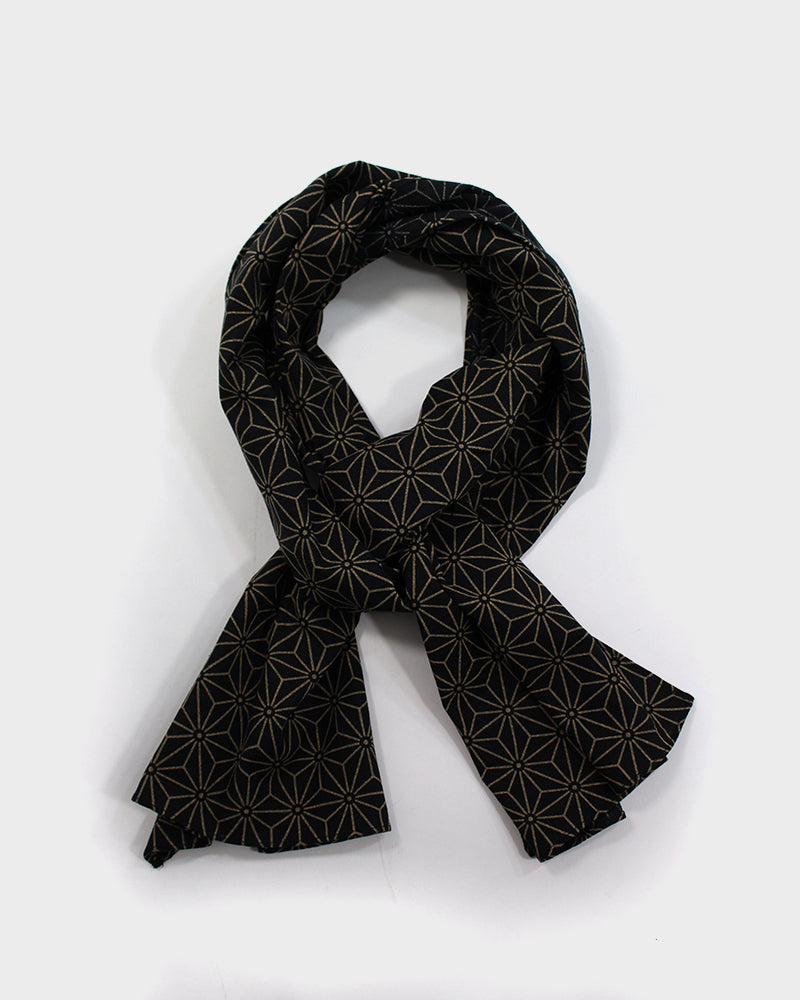 Black and Tan Asanoha Scarf