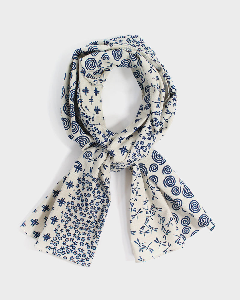 Cream Tombo & Igeta Scarf