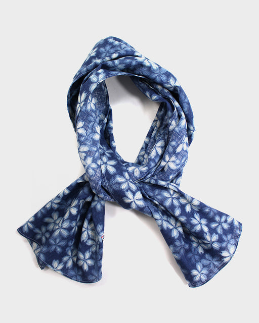 Scarf, Light Indigo Sakura