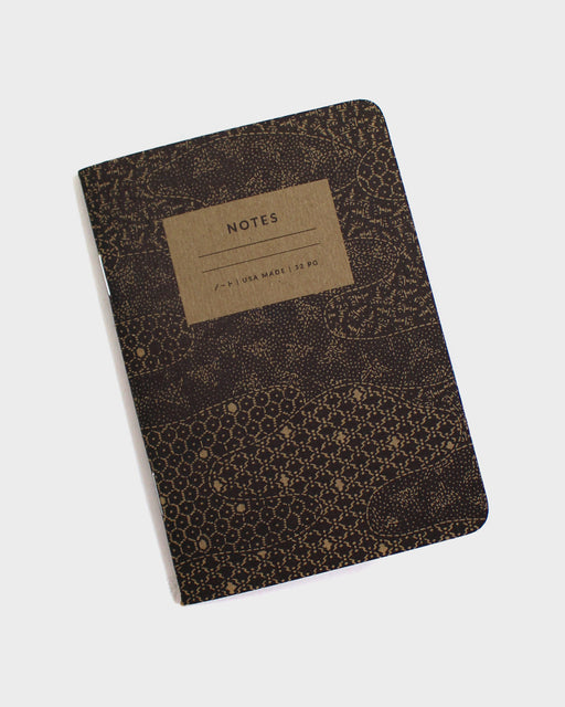 Katazome Pattern Notebook, Black Mist