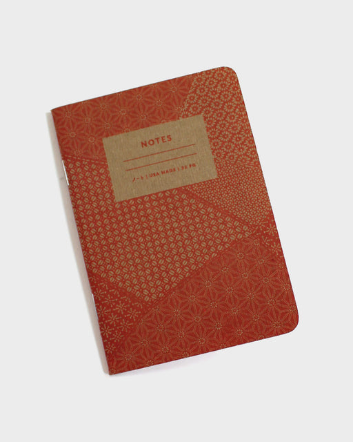 Katazome Pattern Notebook, Red Lines