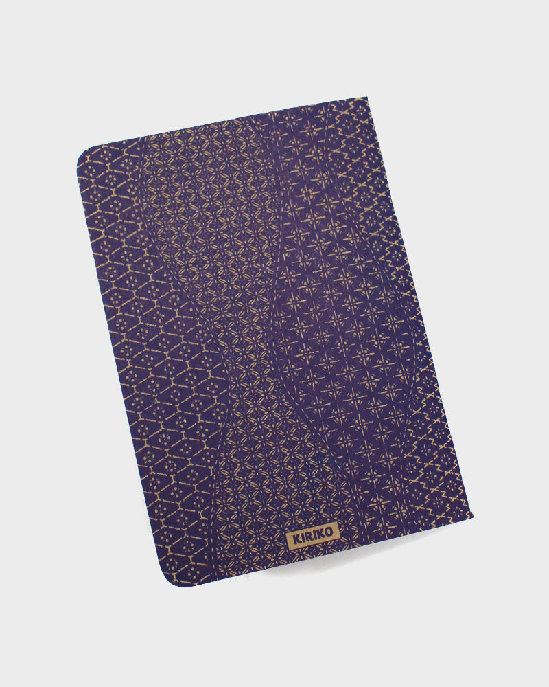 Katazome Pattern Notebook, Blue Waves