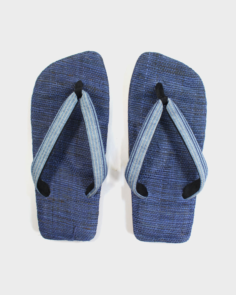 Setta Sandals, Light Blue Stripes, Dark Blue Footbed