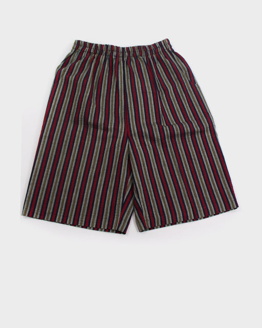 Shijira Shorts, Red and Black Shima