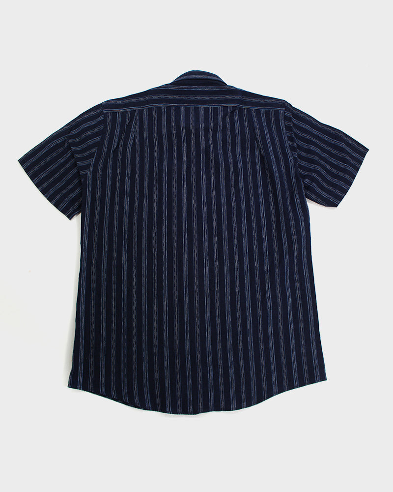 Button-Up Shirt Short Sleeve, Indigo Shima