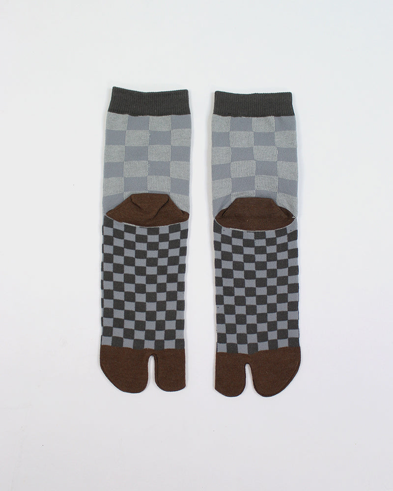 Tabi Socks, Brown Ishidatami