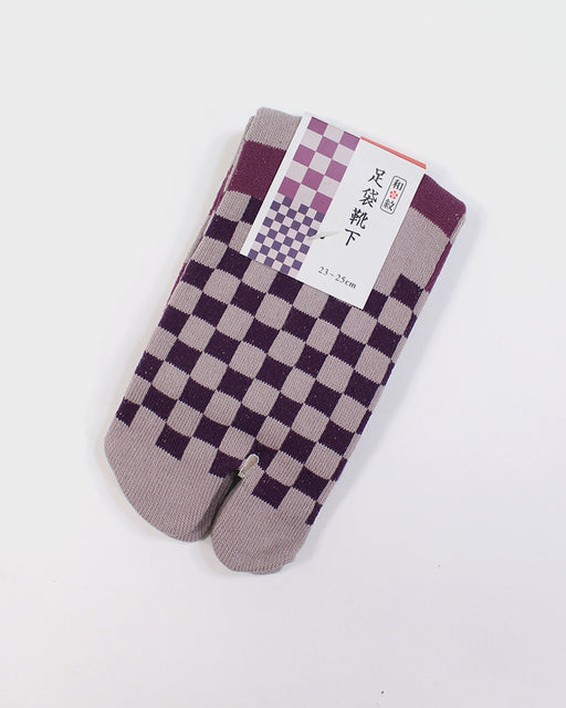 Tabi Socks, Purple Ishidatami (S/M)