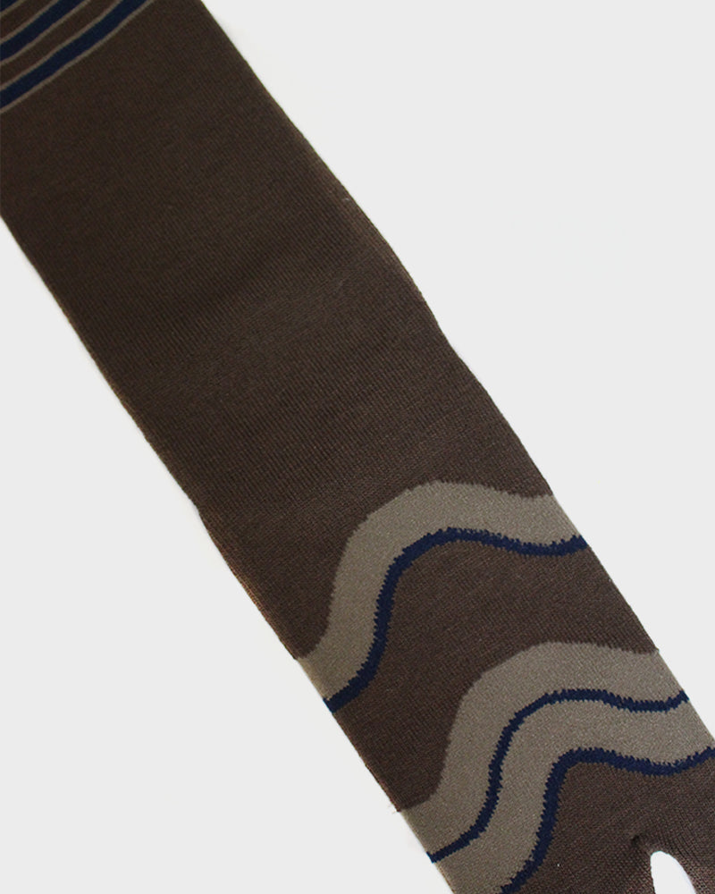 Tabi Socks, Brown, Hikeshi (M/L)