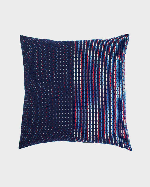 Pillow Split Indigo Red, White and Blue Kasuri-Ori