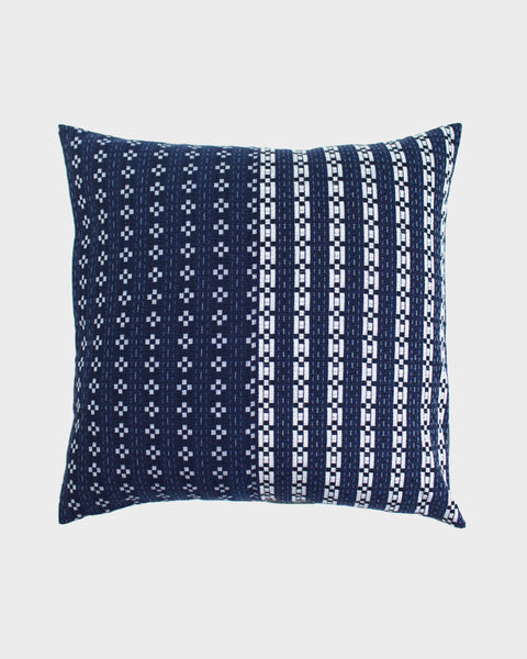 Pillow Split Indigo Kasuri Grid