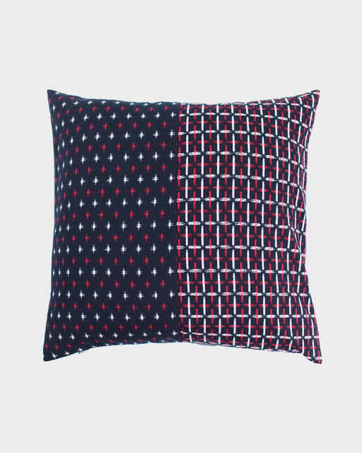 Pillow Split Red and White Kasuri-Ori Cross
