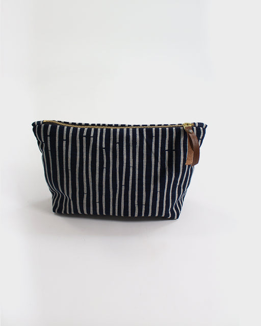 Stand-up Pouch, Indigo Bamboo Shima