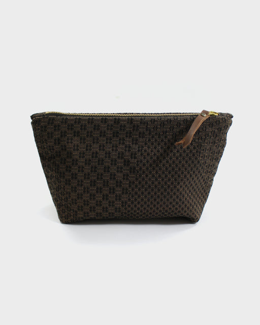 Stand-Up Pouch, Brown Sashiko