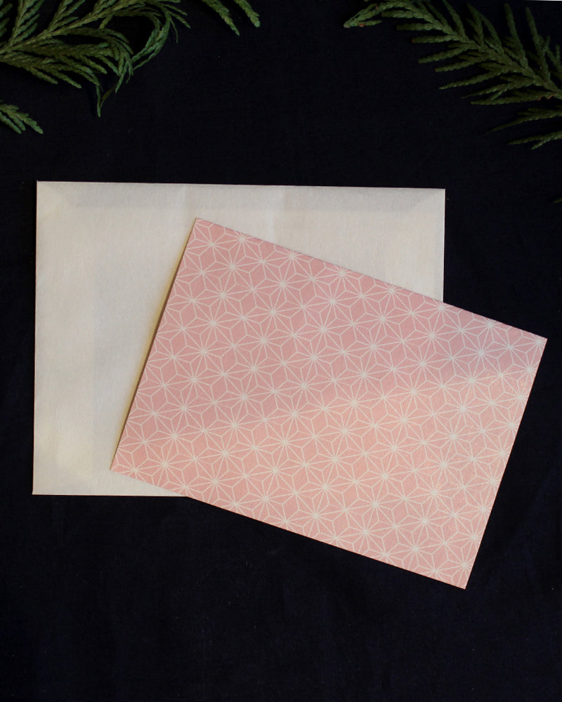 Letter Set, Pink Asanoha