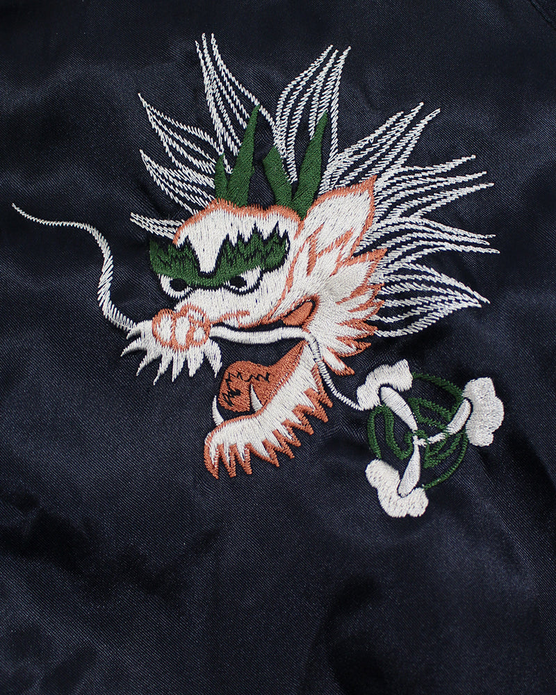 Vintage Reversible Japanese Sukajan, Black and Purple with Dragon and Hell Bound Divers
