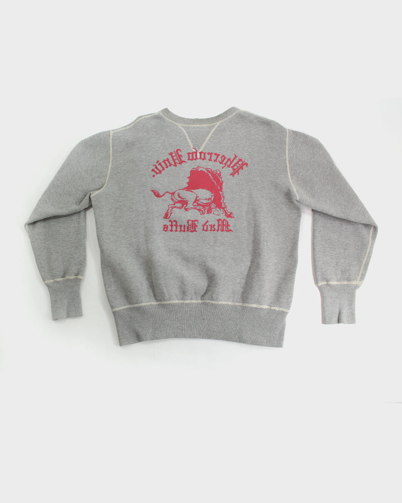 Pherrows Crewneck, Mad Buffs, Grey and Red (L)