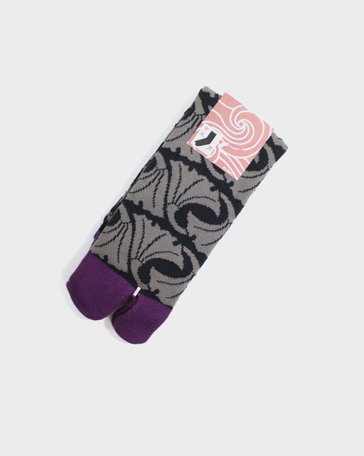 Tabi Socks, Purple, Ginkgo Leaves (M/L)