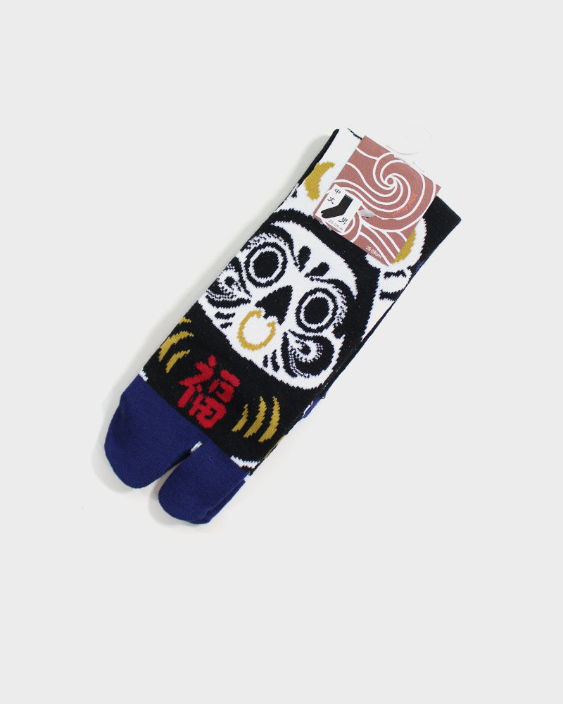 Tabi Socks, Black and White Daruma (M/L)