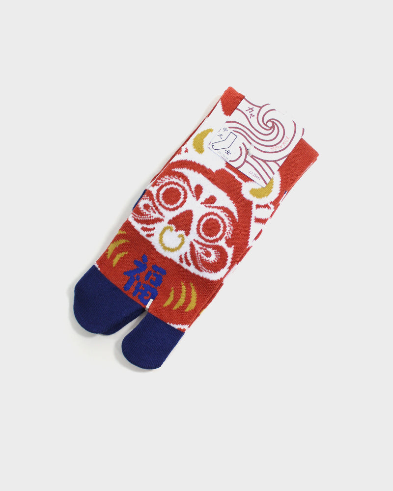 Tabi Socks, Red and Navy, Daruma (S/M)