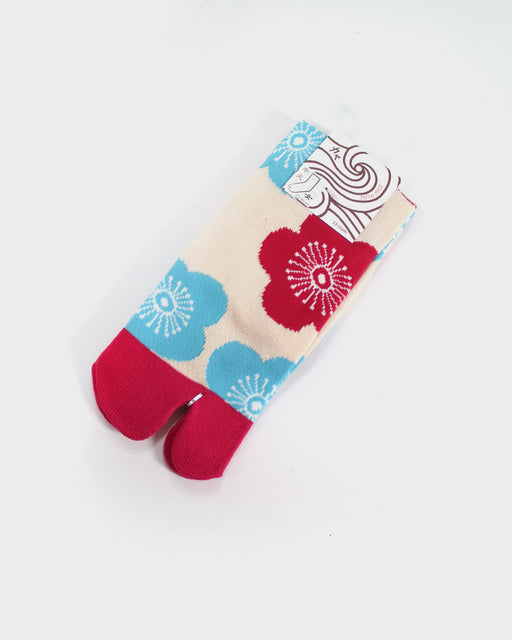 Tabi Socks, Magenta and Teal Sakura (S/M)