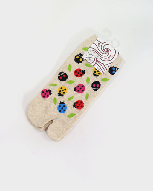 Tabi Ankle Socks, Ladybugs (S/M)