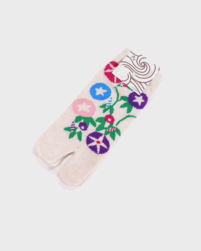 Tabi Ankle Socks,Morning Glories (S/M)