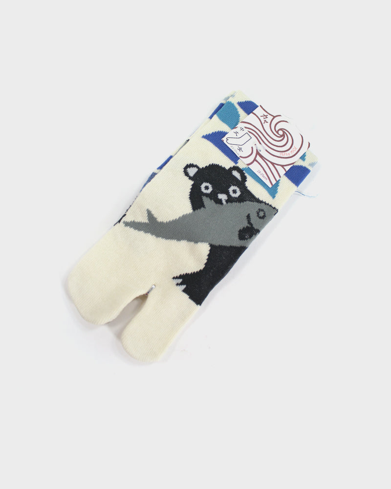Tabi Socks, Kuma and Fish (S/M)