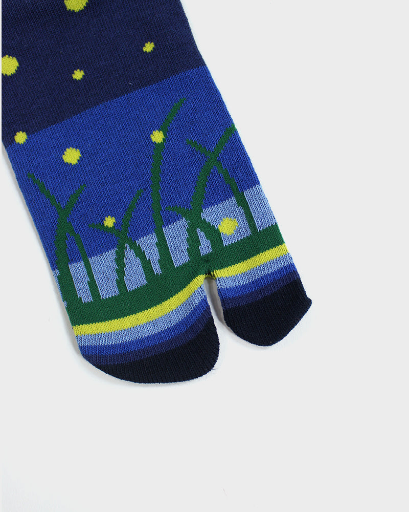 Tabi Ankle Socks, Night Meadow (S/M)