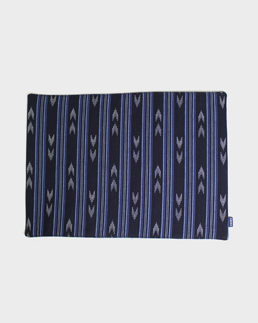 Table Mat, Multi-Indigo with Shima and Yagasuri