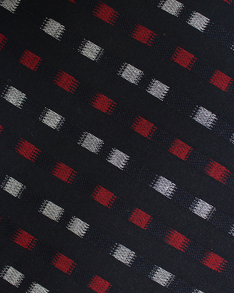 Table Mat, Indigo, Red and White, Grid